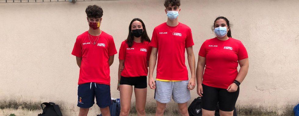 Foto. Atletas de Eliocroca en el cto de España Federaciones